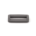 Plastic Rectangular Loops 1 Inch-wide Wolf Gray Single Pieces