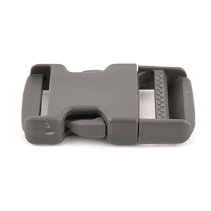 Single-adjusting Made In USA Side-release Buckles 1-1/2 Inch-wide Wolf Gray Single Pieces