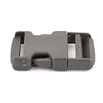 Single-adjusting Made In USA Side-release Buckles 1-1/2 Inch-wide Wolf Gray By-the-bag