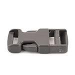 Wolf Gray Made In USA Single Adjusting Side Release Buckles