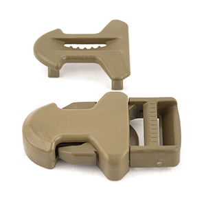 Surmount Made In USA Side-release Buckles 1 Inch-wide Marpat Coyote Single Pieces