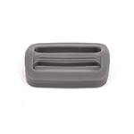 Plastic Single-bar Slides (1a) 1 Inch-wide Wolf Gray Single Pieces
