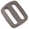 Plastic Single-bar Slides (1a) 1 Inch-wide Wolf Gray By-the-bag