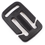 Plastic Split-bar Sternum Slides 1 Inch-wide With 3/4-inch Loop Black By-the-bag