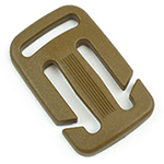 Plastic Split-bar Sternum Slides 1 Inch-wide With 3/4-inch Loop Marpat Coyote By-the-bag