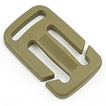 Plastic Split-bar Sternum Slides 1 Inch-wide With 3/4-inch Loop Tan 499 By-the-bag