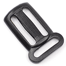 Plastic Sternum Slides 1 Inch-wide With 3/4-inch Loop Black By-the-bag