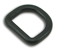B-DR-01 0750 Black Plastic D-Ring