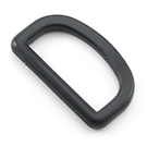 B-DR-01 1500 Black Plastic D-Ring