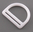 B-DR-01 1000 White Plastic D-Ring With Slot