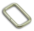 B-LP-01 1000 Silver Metal Rectangular Loop