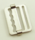 B-SB-10 1000 Silver Metal Single Bar Slide With Loop