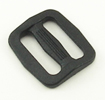 Plastic Single-bar Slides (1a) 3/4 Inch-wide Black By-the-bag