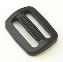 Plastic Single-bar Slides (1a) 1 Inch-wide Black Single Pieces