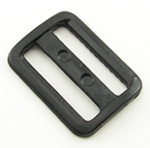 Plastic Single-bar Slides (1a) 1-1/4 Inch-wide Black By-the-bag