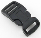 B-SR-03 0750 Black Contoured Side Release Buckle