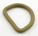 Metal D-rings 8-gauge Welded 1 Inch-wide Marpat Coyote Single Pieces