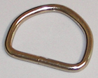 7-GAUGE WELDED METAL D-RINGS 1 INCH-WIDE SILVER By-The-Bag