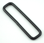 Metal Rectangular Loops 2 Inch-wide Black By-the-bag