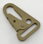 Metal Rifle Sling Snaphooks 1 Inch-wide Marpat Coyote Stamped Steel By-the-bag