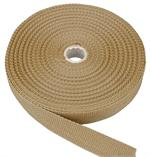 Beige Regular-Weight Polypropylene Webbing