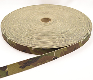 Mil-w-5625 Tubular Nylon Webbing 1 Inch-wide Multicam By-the-yard