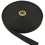 Commercial Nylon Grosgrain Binding 1 Inch-wide Black By-the-roll