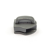 Metal Zipper Sliders Closed Bale #9 Wolf Gray Single Pieces