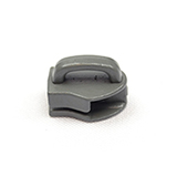 Metal Zipper Sliders Closed Bale #9 Wolf Gray By-the-bag