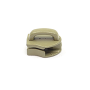 Metal Zipper Sliders Reversed Closed Bale #9 Tan 499 By-the-bag